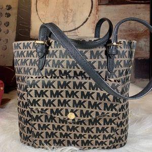 Michael Kors Signature Pocket Tote Handbag Black